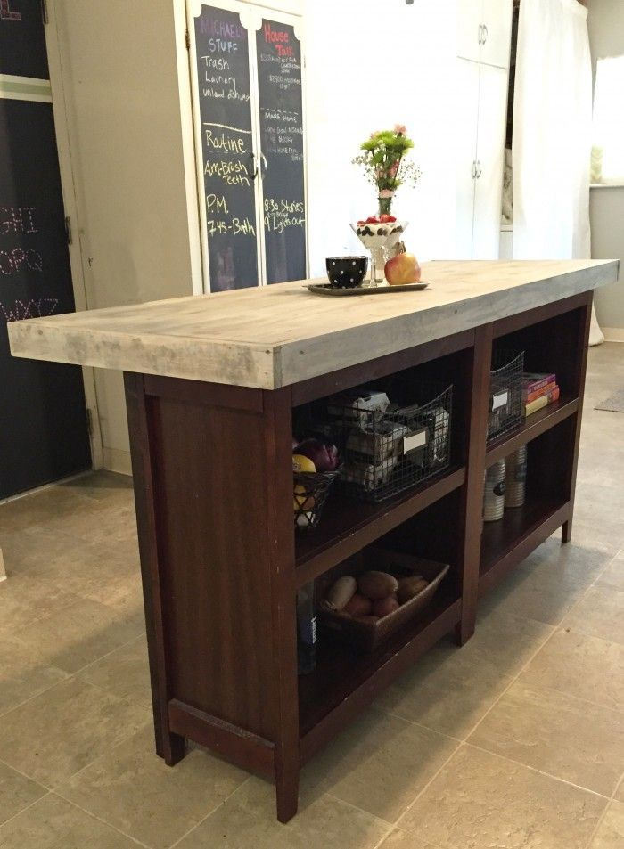 DIY Kitchen Island from bookcases | Furniture Hacks | Pinterest ...