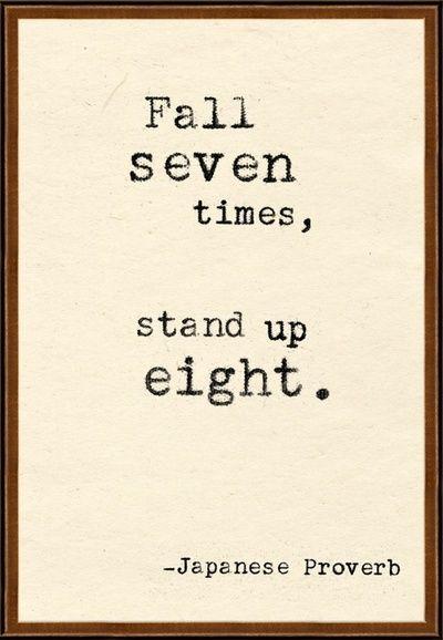 Caete siete veces, levántate ocho