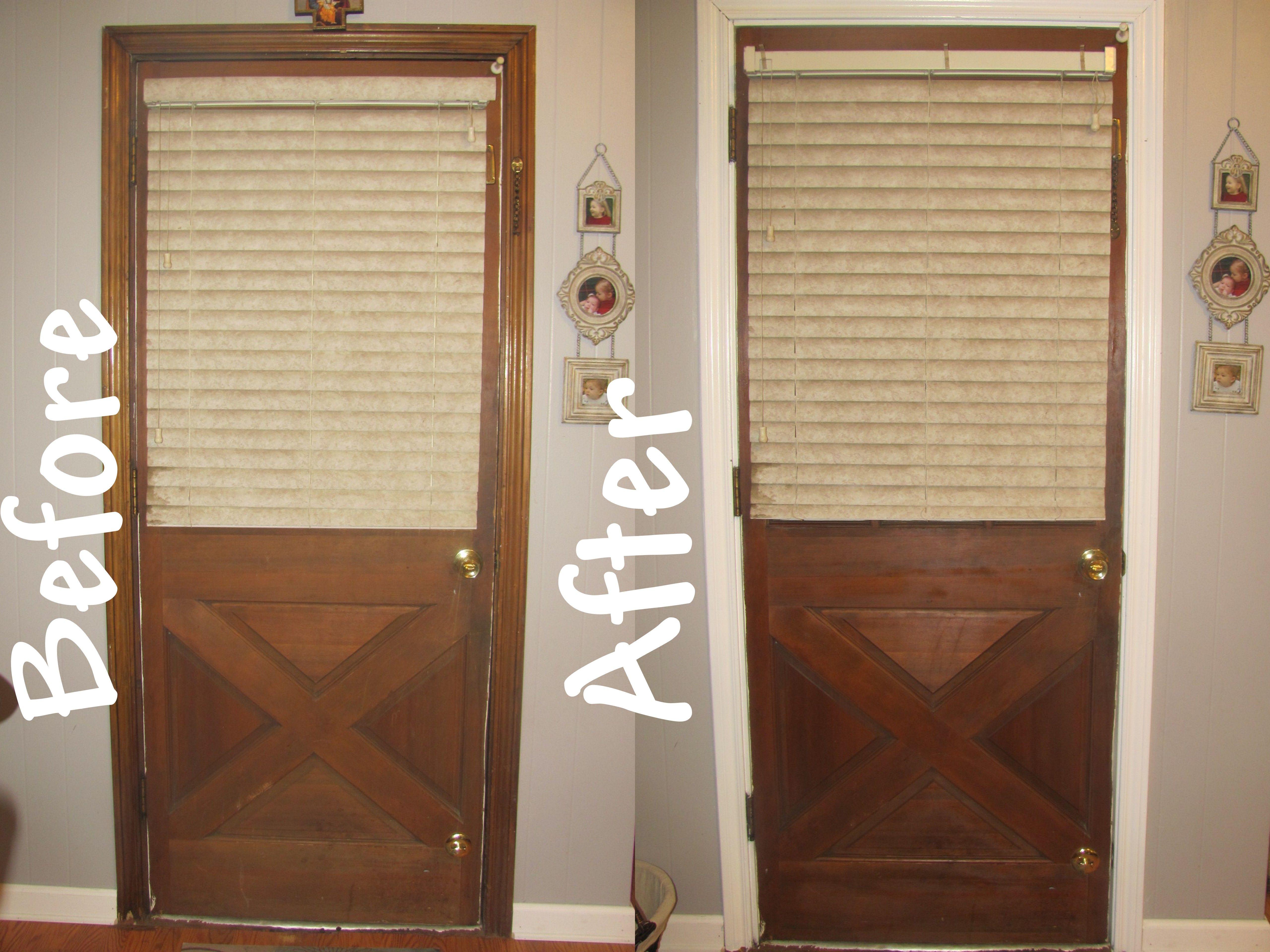 White interior doors with oak trim - Room