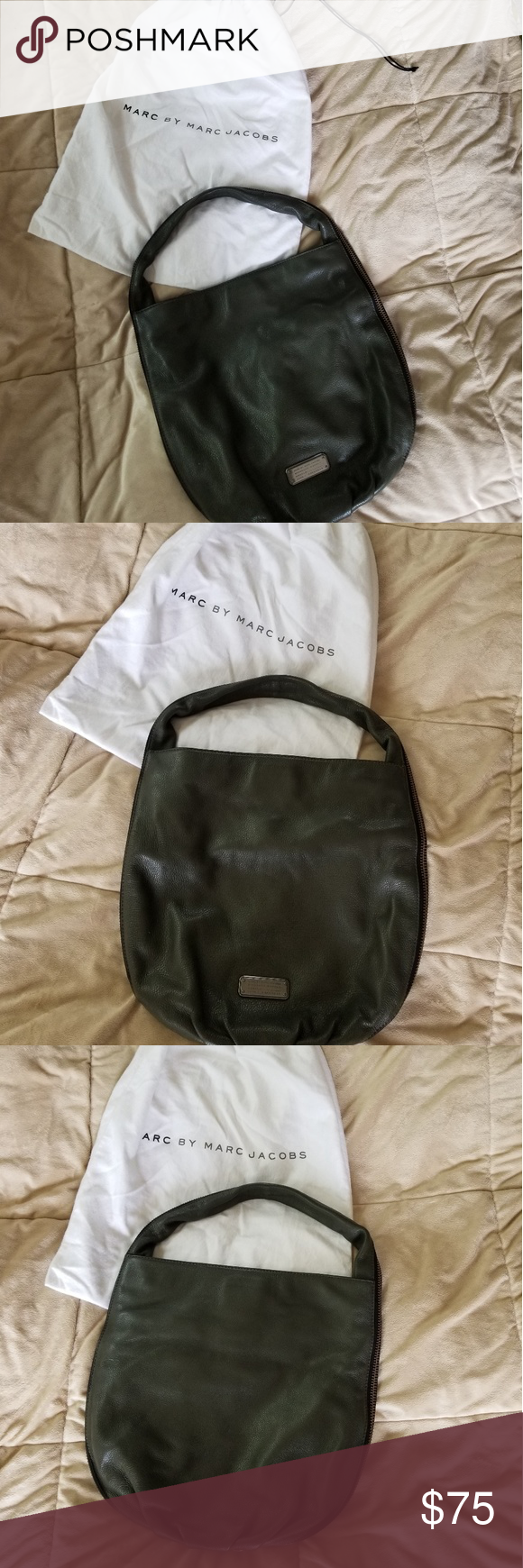 5b8d750610 Authentic Marc Jacob's workwear bag Beautiful handbag. Green soft leather.  Awesome for work,