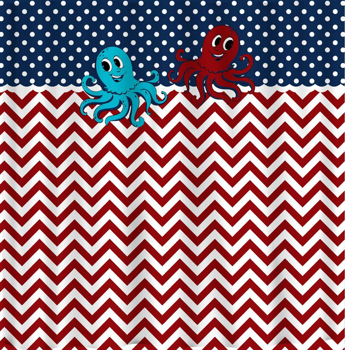 Chevron Shower Curtain U0026 Mini Dots