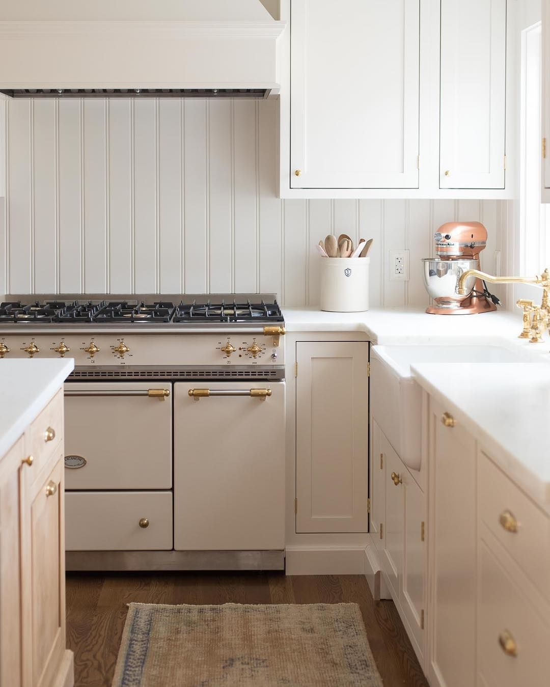 Neutral Warm Creamy White Kitchen With Lacanche Range And A Blend Of Contemporary And Tra Galley Kitchen Remodel Kitchen Remodel Countertops Kitchen Renovation