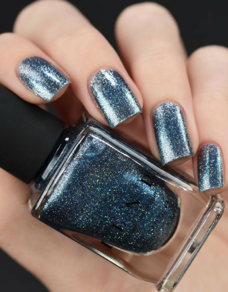 Arctic Lights Icy Blue Holographic Metallic Nail Polish Is An Extraordinary Ultra That Will Leave You
