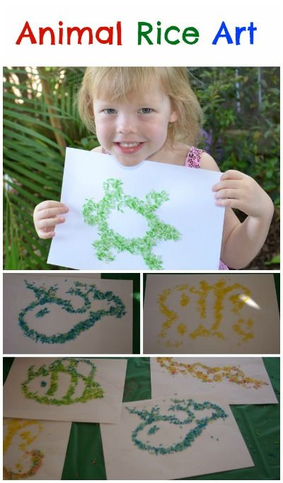 Animal Rice Art It S Colourful Magic Creative Ideas