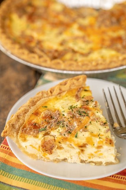 French Onion Chicken Quiche - Plain Chicken