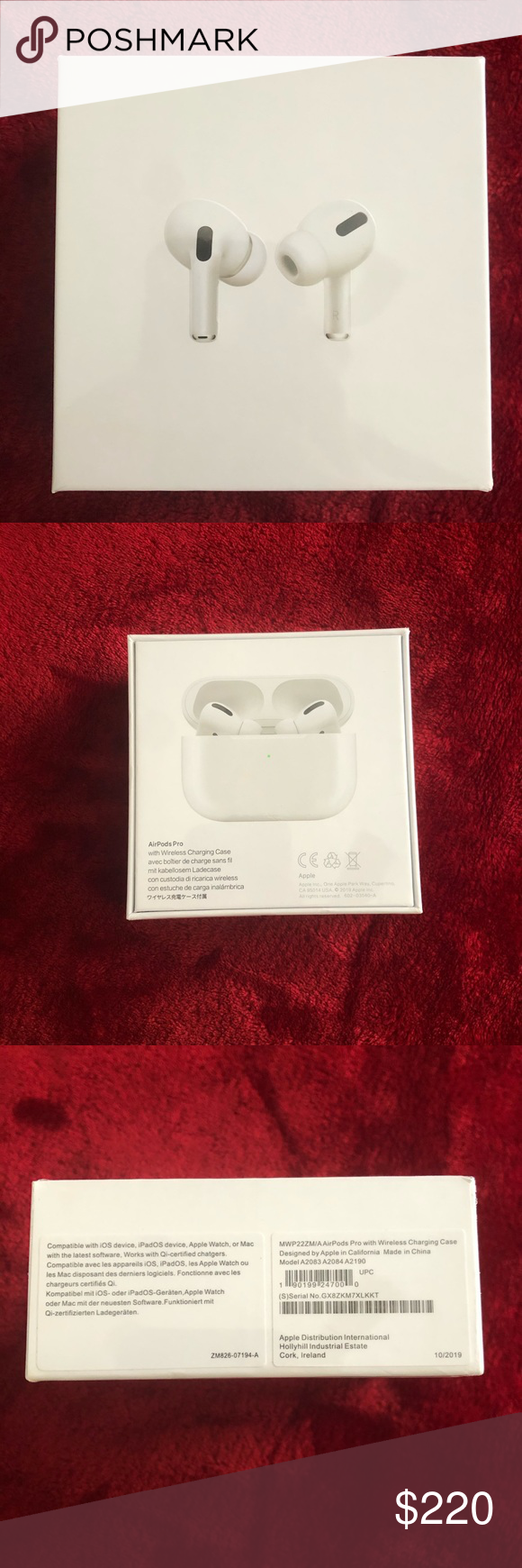 Apple Airpod Pro With Wireless Charging Apple Airpod Pro With Wireless Charging Case Brand New Sealed In Box Retails Airpod Pro Wireless Noise Cancelling