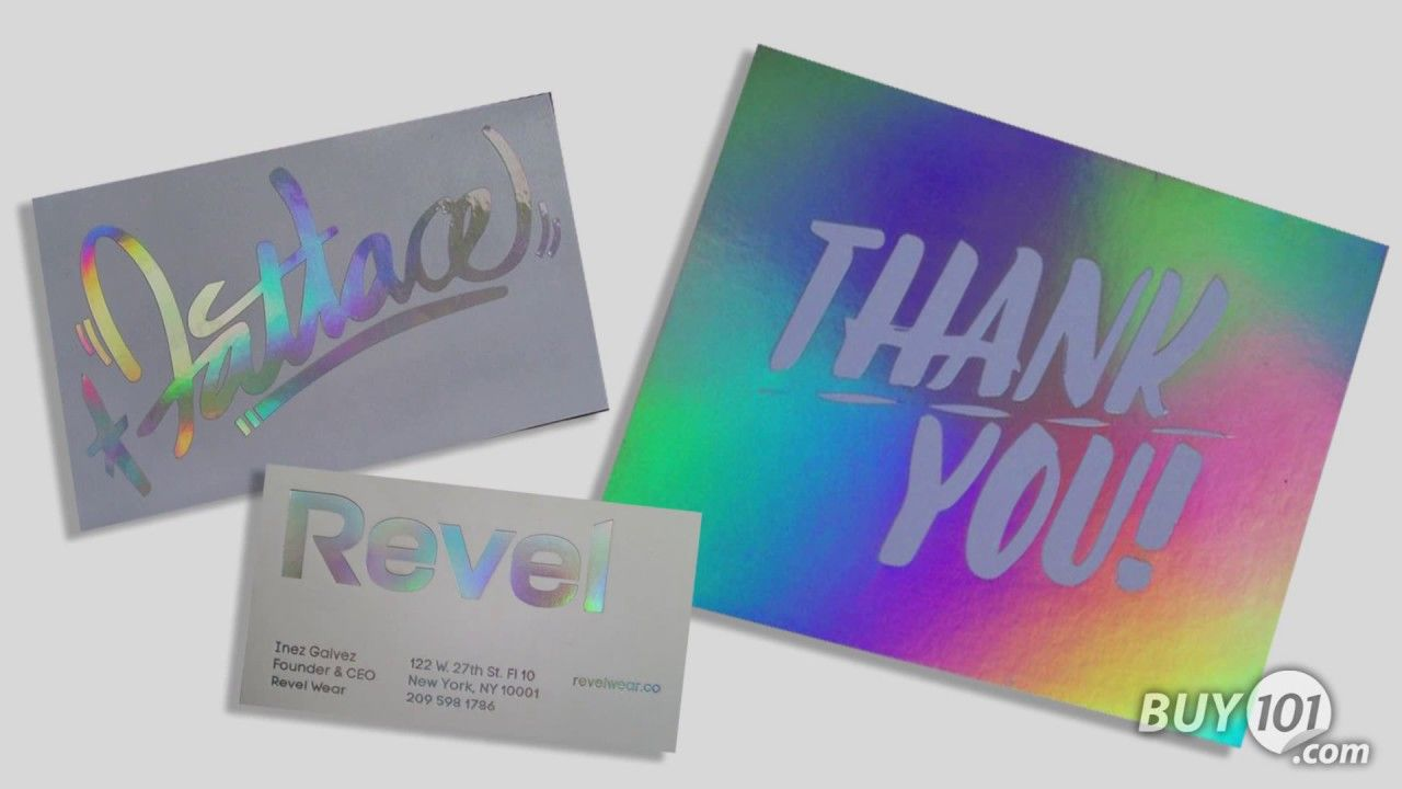 With iridescent toner foil from binding101 you can create business create business cards colourmoves