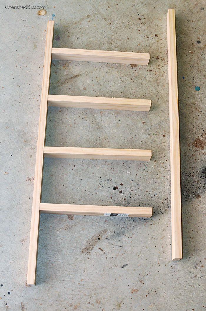 Diy Mini Wooden Ladder Tutorial Wooden Ladder Wooden