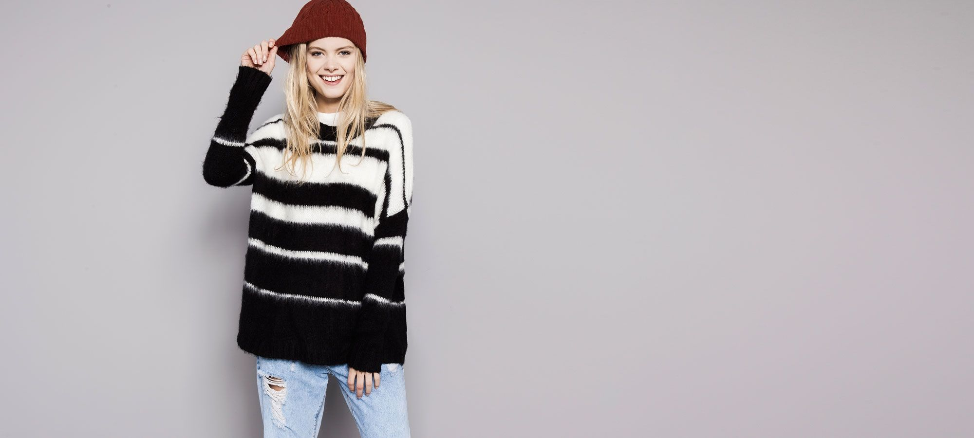 25a3866734 Our 2017 Autumn knitwear collection for women at PULL BEAR. Try our cropped  jumpers