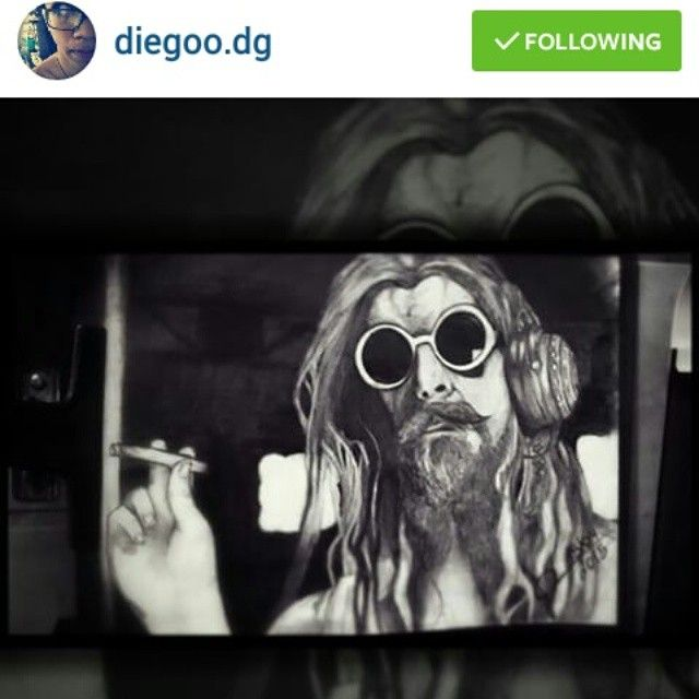 Shout out to @diegoo.dg for this amazing drawing of Rob Zombie! What an amazing job!!! #robzombie #drawing