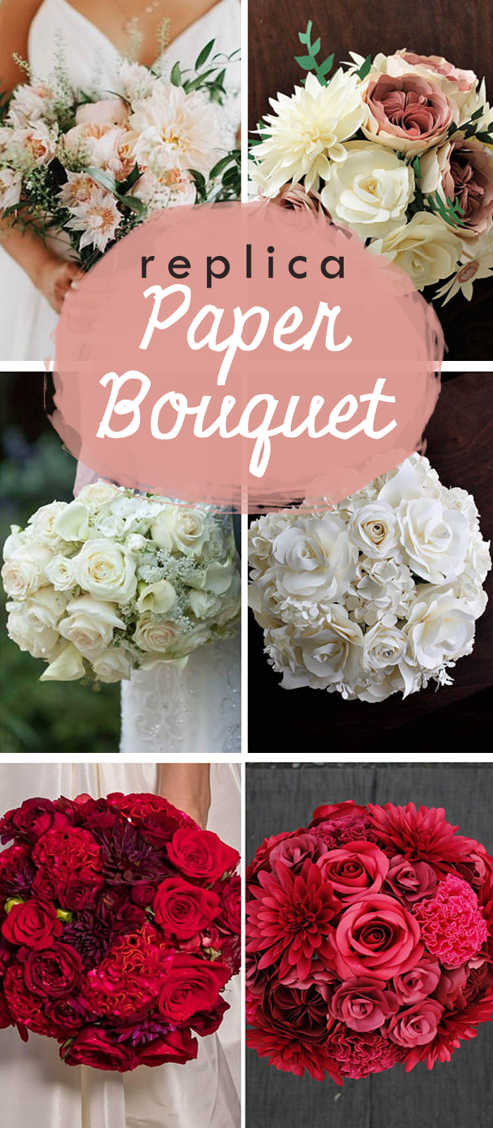 Let S Make Your Replica Paper Bouquet Diy Papet Flowers Craft Wedding