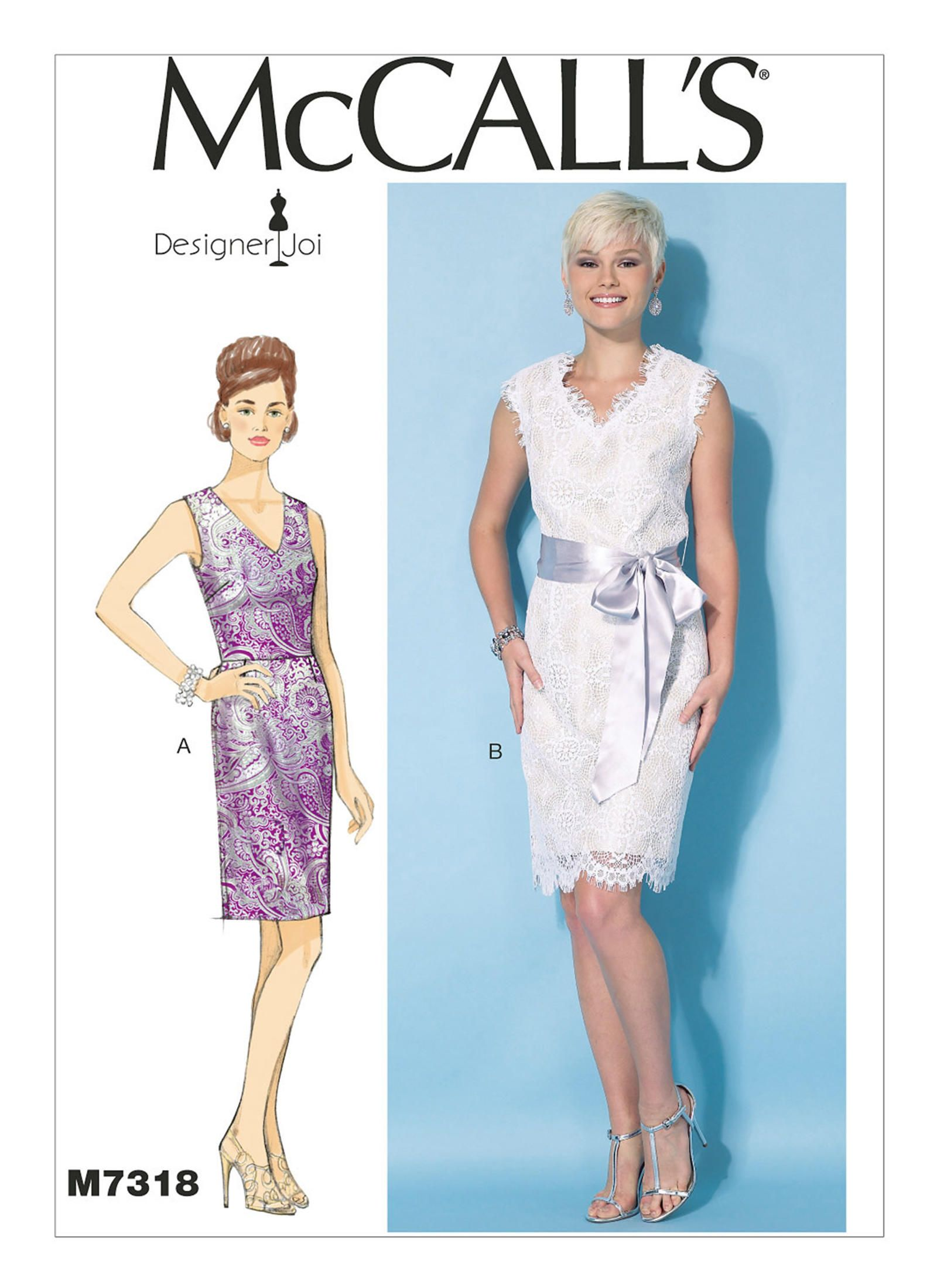 McCall/'s 7318 Misses/' Dresses   Sewing Pattern
