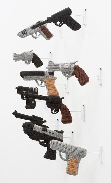 nathan vincent // knit guns... bang! | Bilder | Pinterest ...