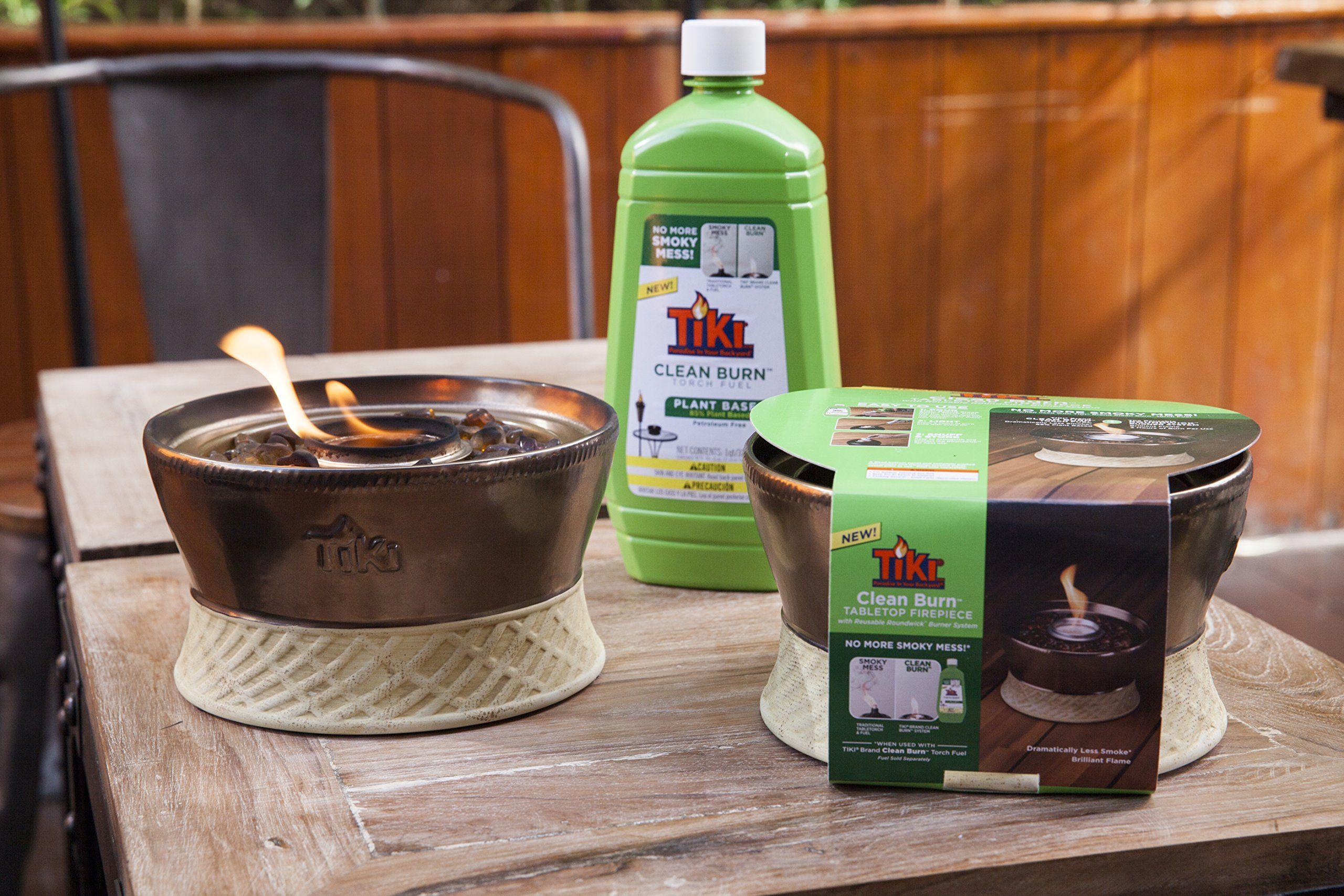 TIKI Brand Clean Burn Ceramic Tabletop Firepiece Torch 7 ...