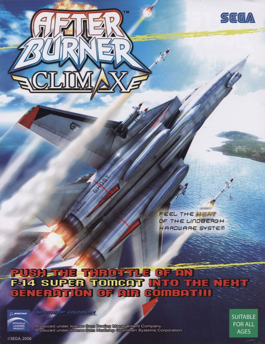 SEGA's After Burner Climax poster  | Posters | Free,roid