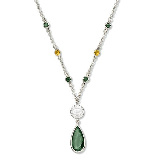 Hot Style Cheap LogoArt Green Bay Packers Crystal Necklace Best For Promotion Gift. http://www.ywlaf.com