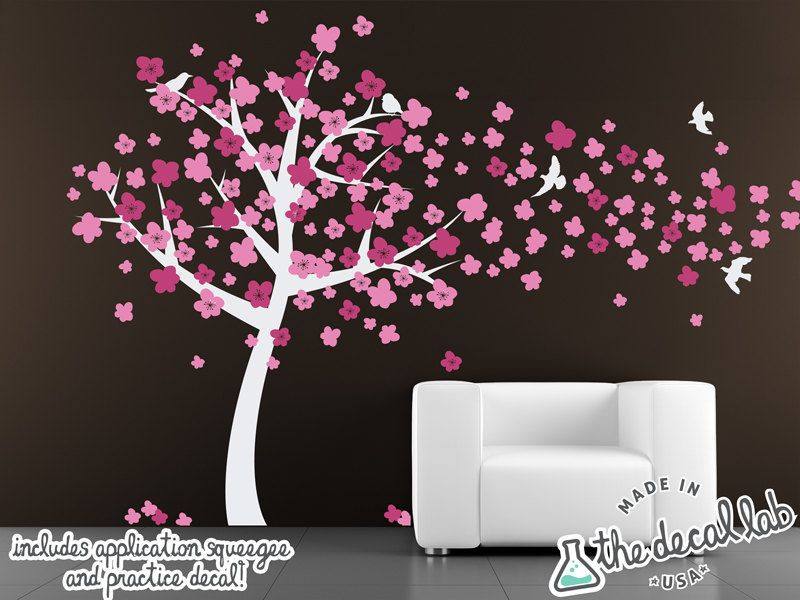 Cherry Blossom Tree Decal Wall Decal Tree With Blossoms