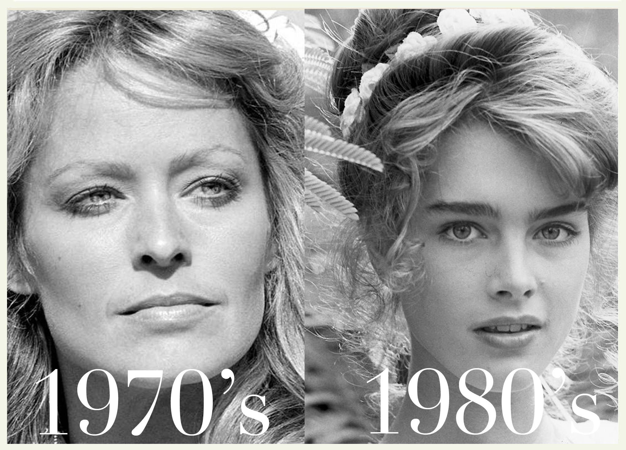 Farrah Fawcett Eyebrows In The 70s And Brook Shields Eyebrows In