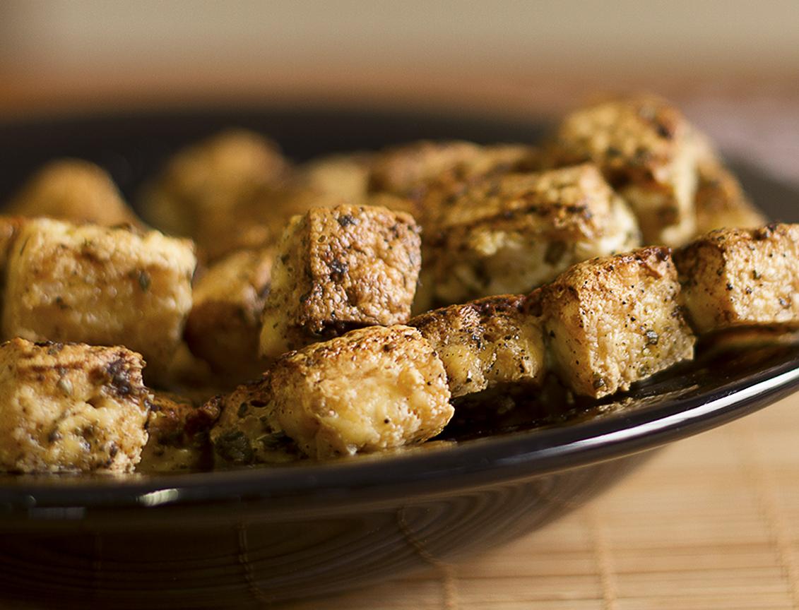 Petiscos Crocantes de Tofu