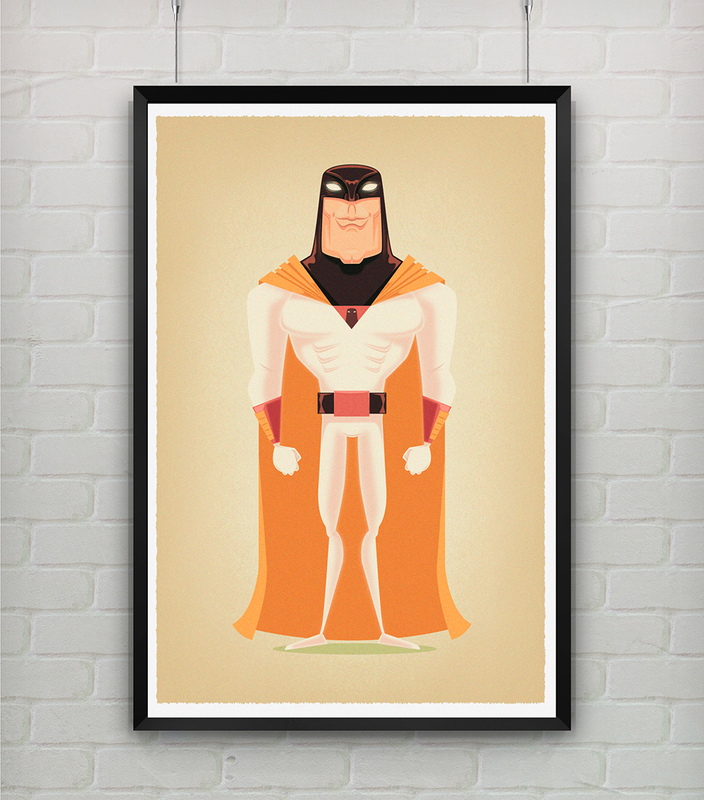 Quadro - Space Ghost - StormShop -  A3 - R$ 70
