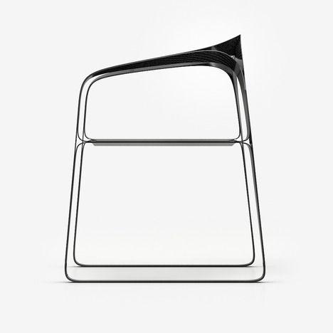 Carbon Fibre Plooop Chair by Timothy Schreiber | [nero ...