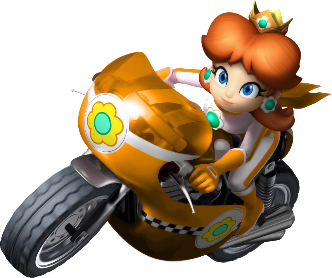 Donkey kong mario kart wii car tuning - Princess Daisy On Mach Bike From Mario Kart Wii