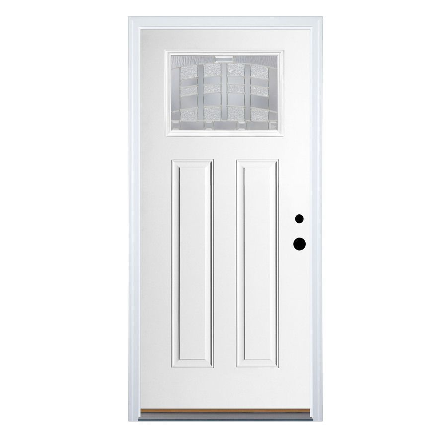 Shop Benchmark By Therma Tru 36 In Craftsman 1 Lite Decorative Inswing Fiberglass Entry Door At Lowes Com Entry Doors Fiberglass Entry Doors Doors Interior
