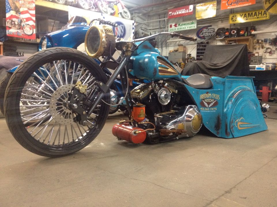 Patina Harley 91 electric glide classic 26 inch front