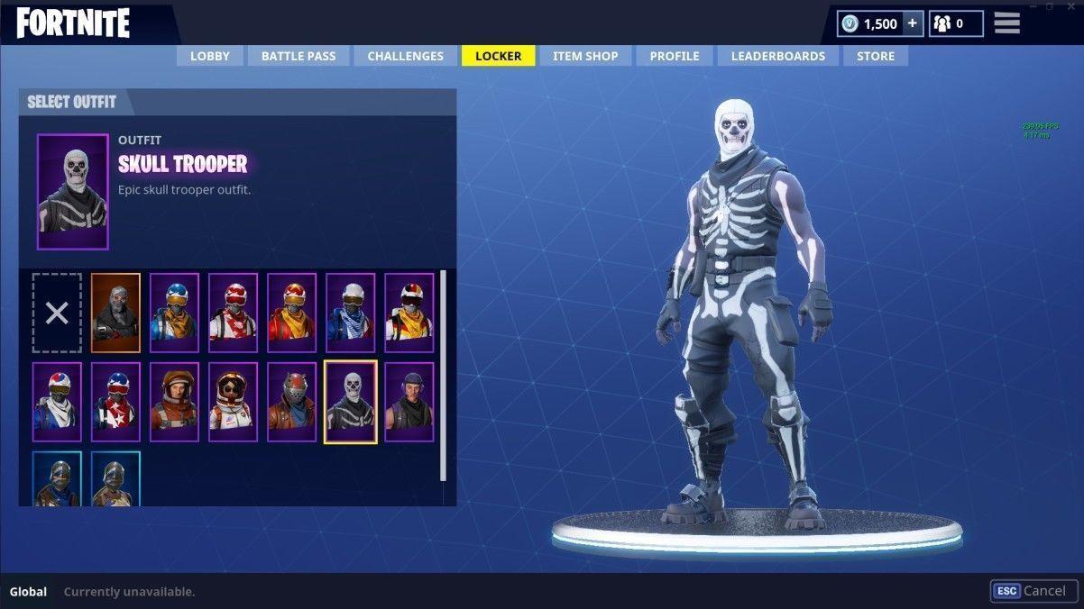 Fortnite Skull Trooper Very Rare Skin Account Xbox Pc Multiple