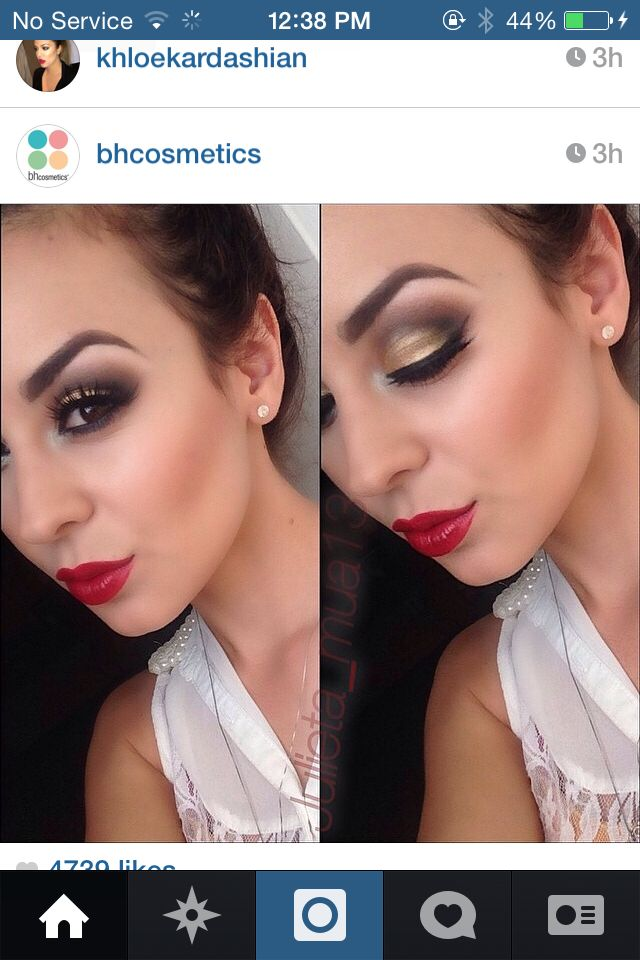 Gold lid red lip
