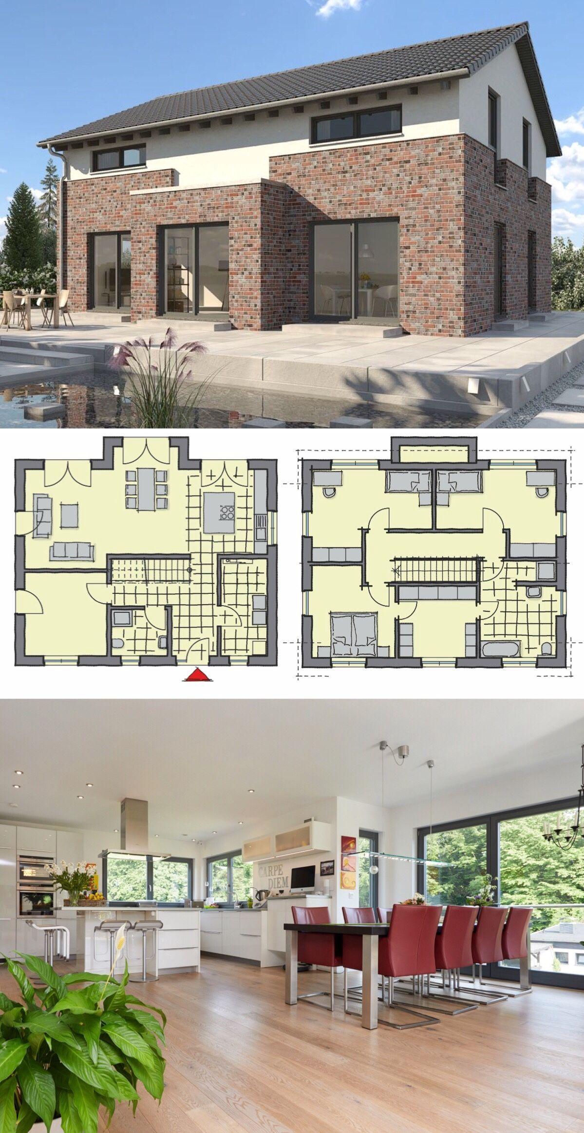Fertighaus modern mit Satteldach Architektur, Erker Anbau
