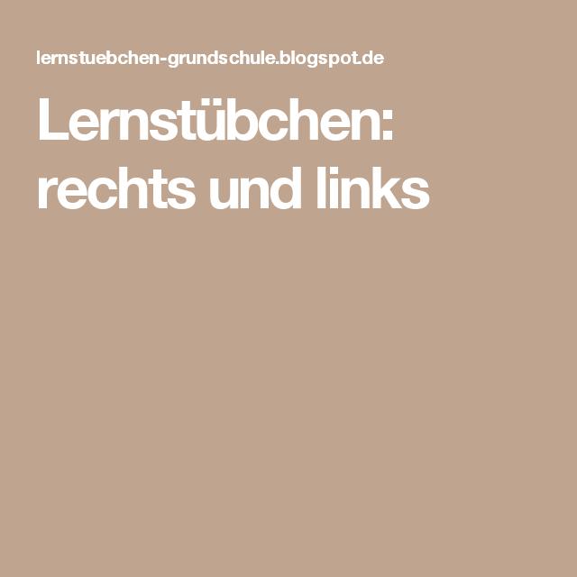 Lernstübchen: rechts und links | Basteln | Pinterest | Software