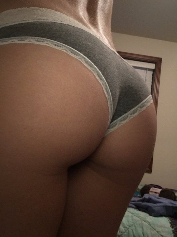 Butt cheeks tight ass panties