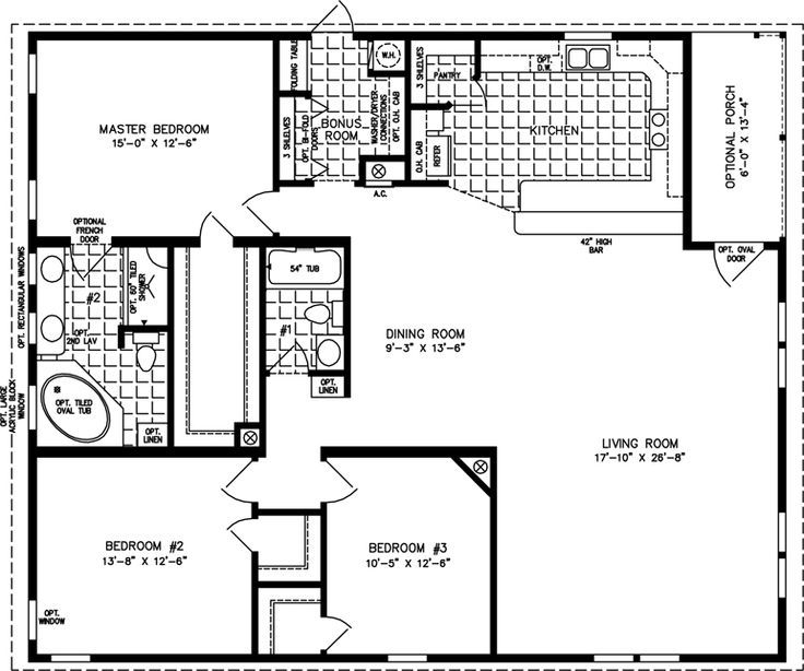 Manufactured home floor plan the t n r model tnr 7483 3 manufactured home floor plan the t n r model tnr 7483 3 bedrooms 2 malvernweather Images