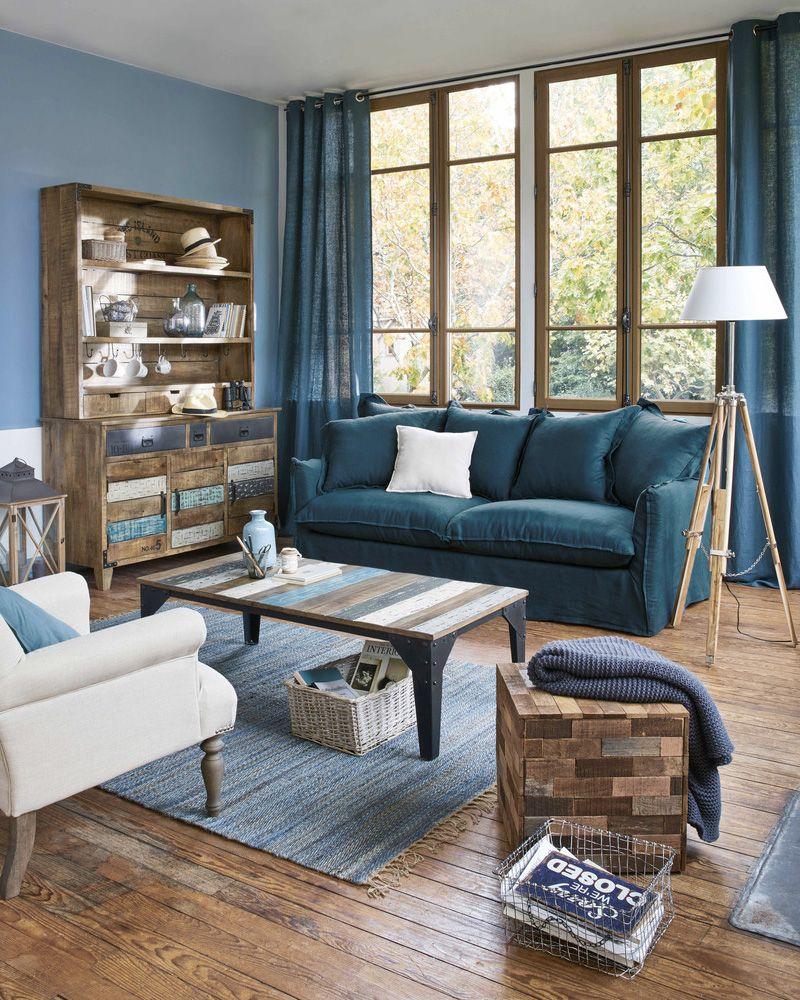 9 façons d'utiliser le bleu dans la déco du salon | Shake My Blog | Déco salon, Salon bleu ...
