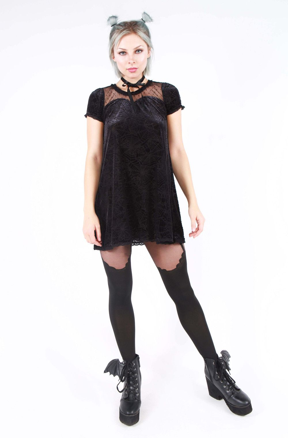 cave creeps sweetheart dress u iron fist clothing all black