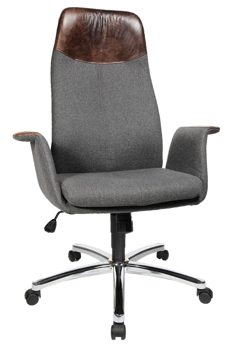 Topstar Sessel Retro Chefsessel Air Lounge Anthrazit Grau Topstar Chair