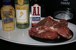 A-1 and Dijon Steak CrockPot Recipe