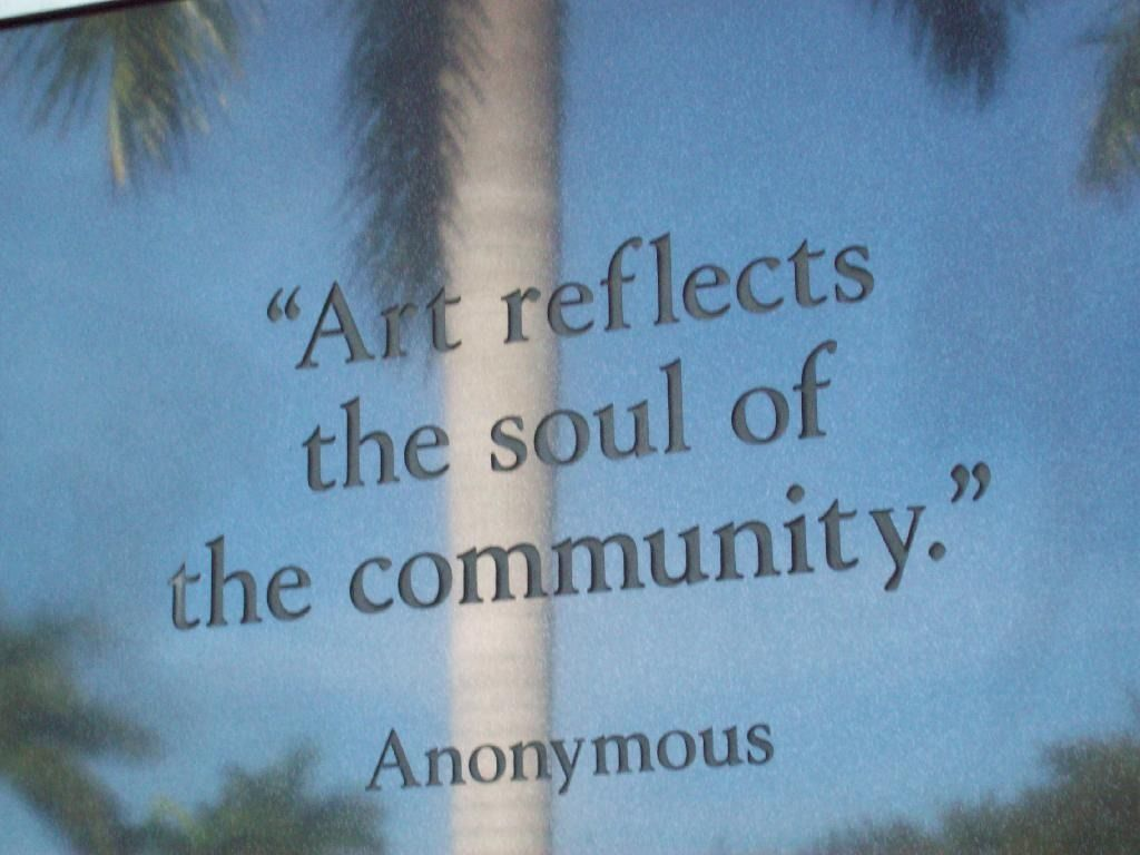 """""""Art reflects the soul of the community."""" Etched on the side of Naples Museum of Art   Artis Naples - The Baker Museum and Naples Philharmonic   Things to Do in Naples, Florida"""