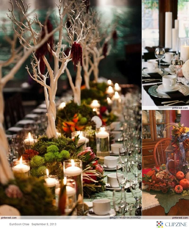 lovely fall tablescapes love the trees but they re too tall use rh pinterest com
