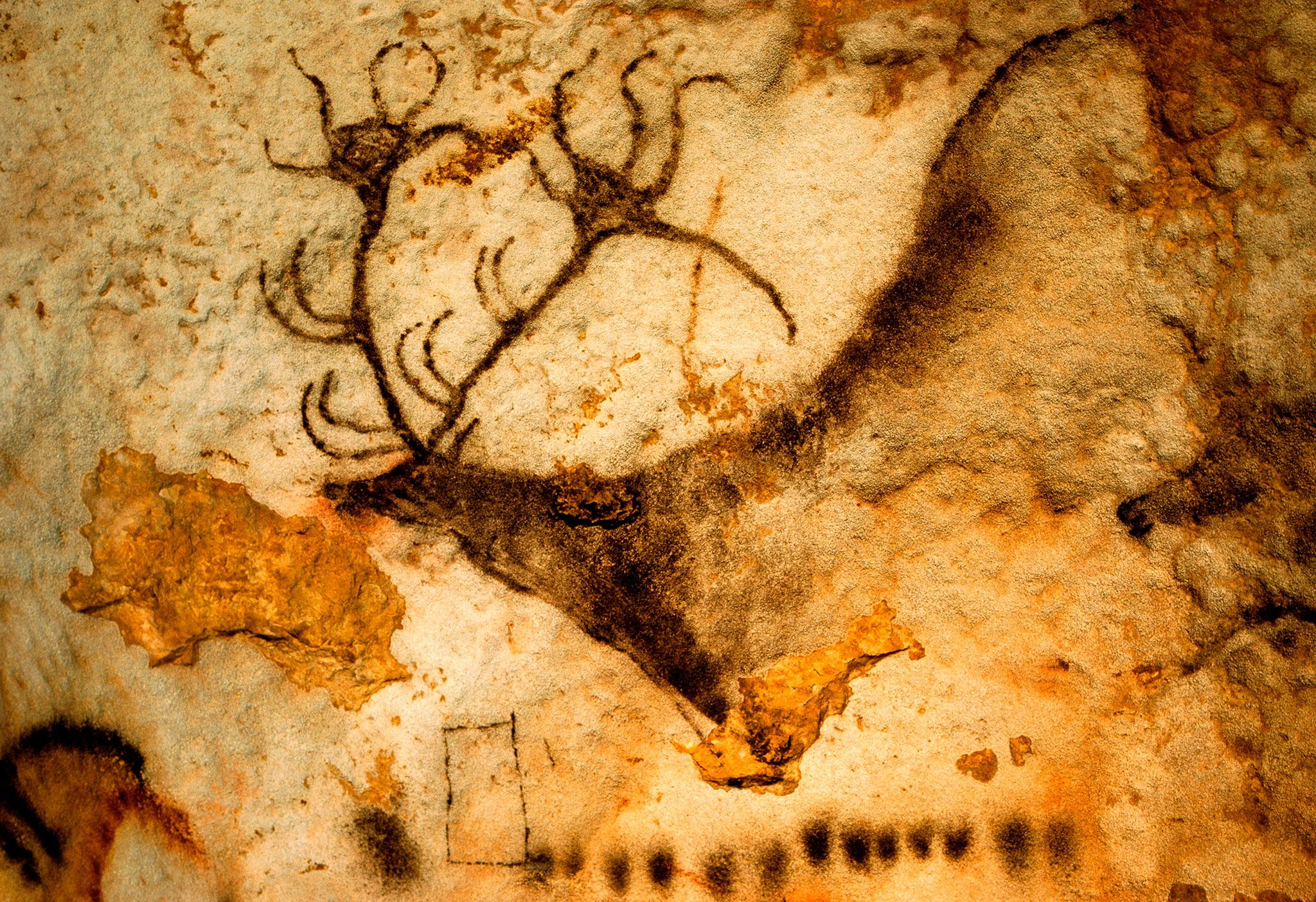 Geometric signs on cave walls and ancient artifacts may be some of humanity's earliest graphic communications.