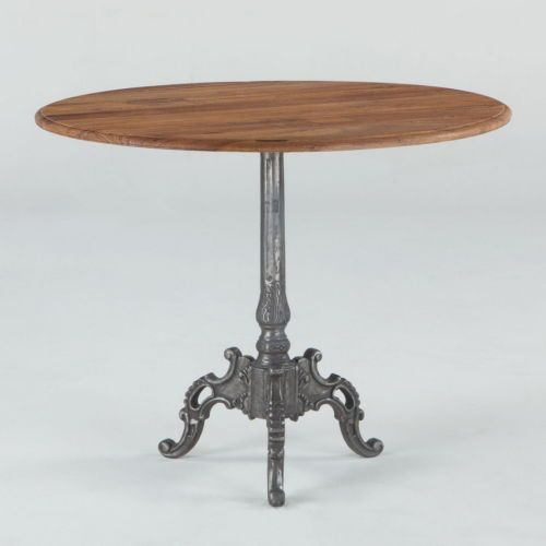Round dining table french vintage heavy cast iron Industrial