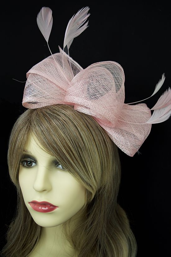 Pale Pink Large Bow Sinamay Hairband Fascinator  aa5f4fa9b64