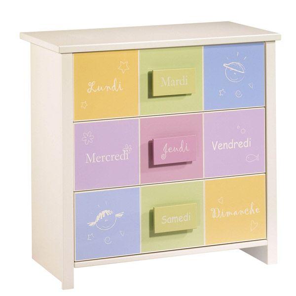 Cassettiera Sauthon 3 Cassetti Sauthon Colorful Dresser Dresser Kids Room