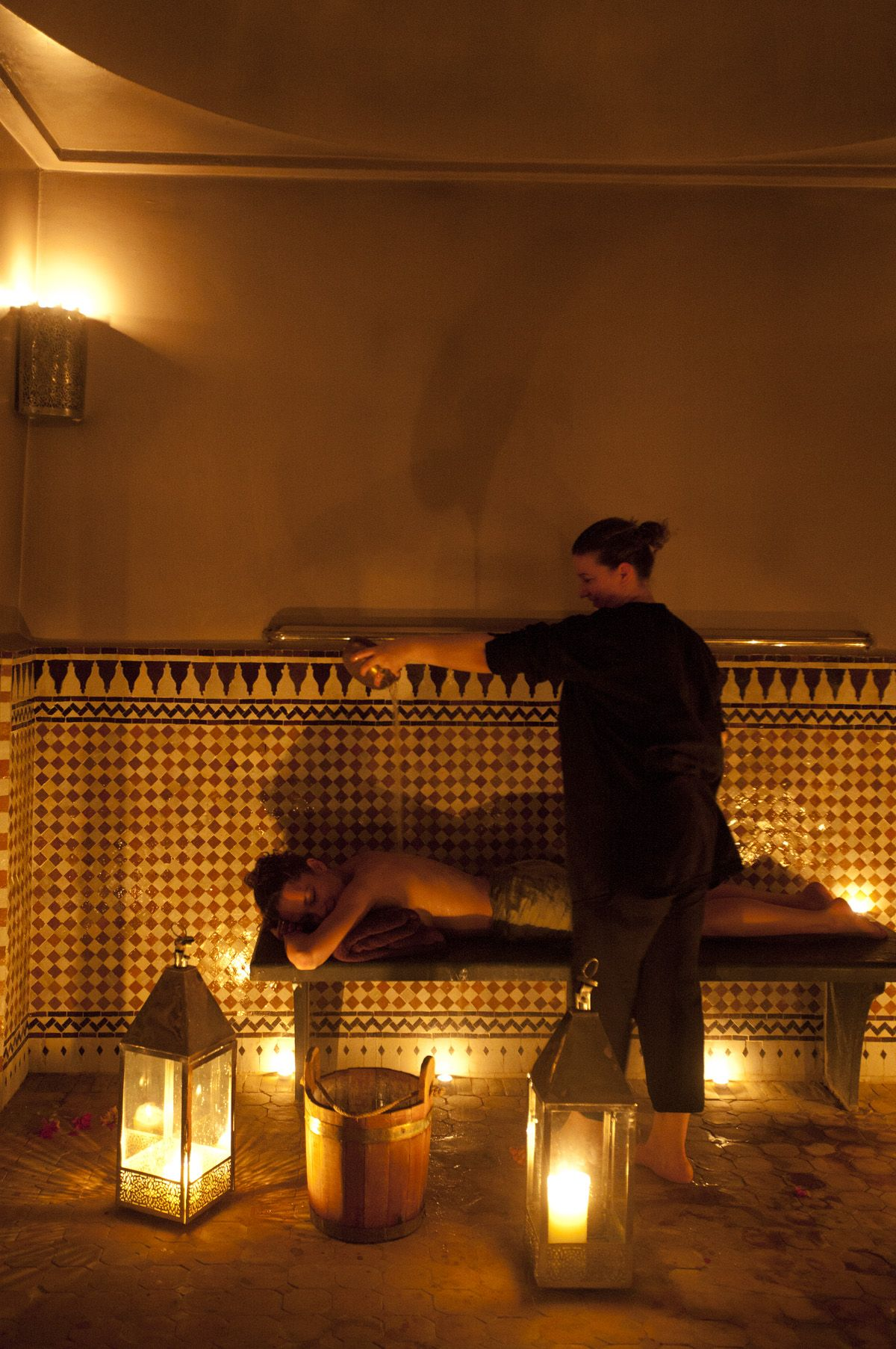 Salon De Massage Marocain Traditional Hammam Treatment Done Individually With Relaxation