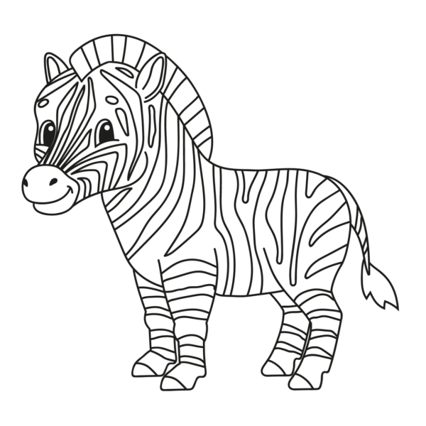 Cebras Para Colorear Com Dibujo De Cebra Cebra Cebras