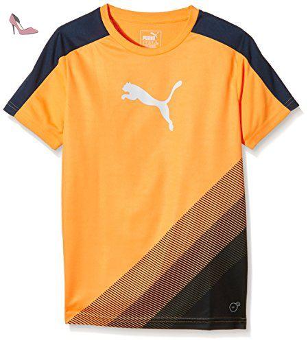 PUMA t-shirt iT evotrg cat graphic 5-6 ans Orange - Orange Pop-Blue Wing Teal - Chaussures puma (*Partner-Link)