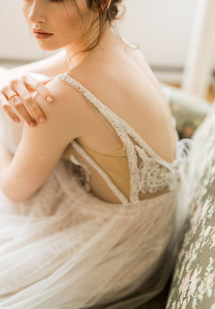 Soft muted color palette - wedding dress| fabmood.com #wedding #weddingdress #weddingdresses #weddingcolor #inspirationshoot #styledshoot #morningbride #weddinginspiration