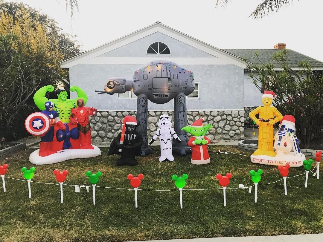 I Love Decorating Our Lawn For Christmas Atat Yoda