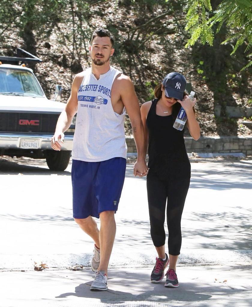 Lea Michele and Matthew Paetz hiking today.